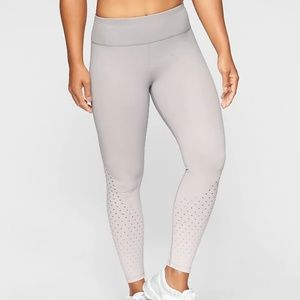 Athleta Gray/Pink Ombre Contender Aero Leggings